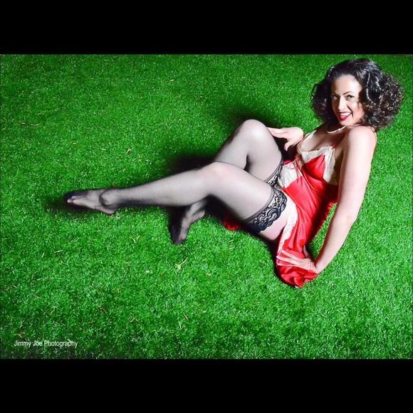 7ef23458f99 1940s Long Red Silk Lingerie Gown nightie